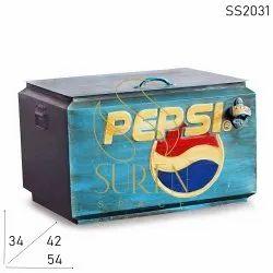 Hand Painted Vintage Pepsi Cooler