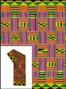 44-45 Multicolor 150 Grams Cotton Kente Wax Print, For Garments, Gsm: 100-150