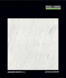 White Vitrified Floor Tile, Thickness: 10-12 MM, Size: 600x600 MM