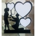 Wooden Couple Photo Frame