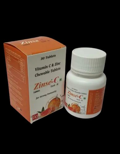 Zinse-c Vitamin C And Zinc Chewable Tables For Strong Immunity