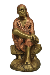 Multicolor Brass Sai Baba Statue