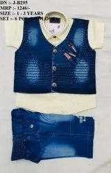 Latest Fancy Denim Design Shirt & Pant Set For Boys