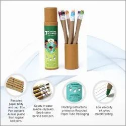 Plantable Coloured Ink Eco & Paper Ball Pens