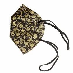Premium N95 Versace Gold DRDO Certified Face Mask With 5 Layers With Headloop