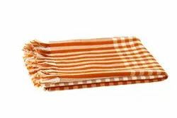 Bamboo Non Terry Checks Towels_75X150 Cm_180 Gsm