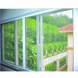 Modern Pleated Mosquito Net Window