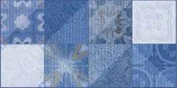 Blue Ceramic Bathroom Wall Tiles, 5 Pcs, Thickness: 10-15 mm
