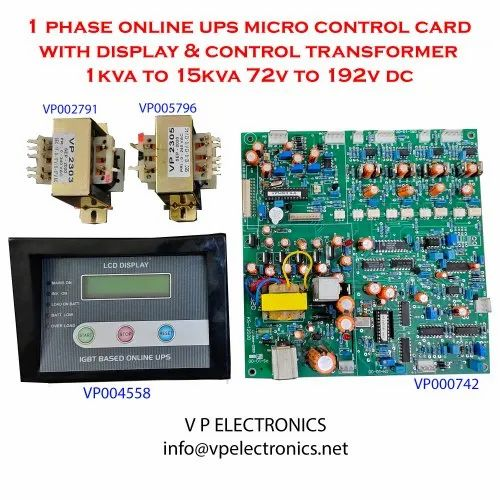 1 Phase Online UPS Micro Control Card with Display & Control Transformer