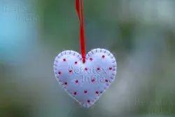 Heart Shape Christmas Ball