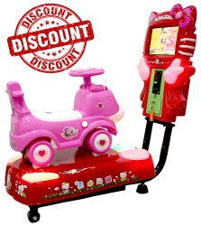 Pink Puppy Kiddie Ride - 3D