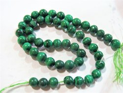 13 Strand Genuine Malachite Round Semi Precious Stone Beads