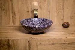 Amethyst Semi Precious Wash Basin