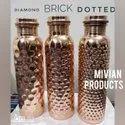 Diamond / Brick / Dotted Copper Bottle