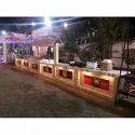 Designer Wooden Catering Counter
