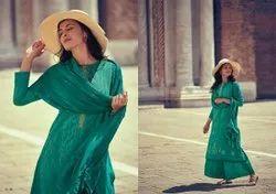 Shibori Varsha Fashions Plazzo Dress Material