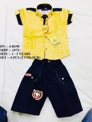 NEW FASHIONABLE FANCY DESIGN SHIRT & PANT SET FOR BOYS