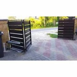 Swing Brown Automatic Foldable Main Gate, For Residential