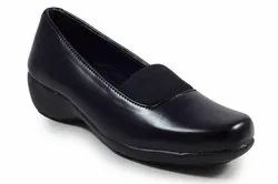 Slip On Ladies Black Corporate Formal Shoes, Size: 5-8