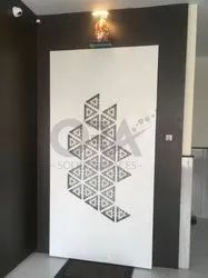 Acrylic Solid Surfaces Safety Door With Jaali Design By Ora Solid Surfaces