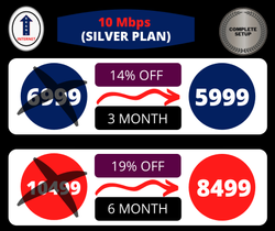 Silver Plan 10 Mbps Unlimited Data in Katihar