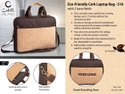 Eco-Friendly Cork Laptop Bag With 2 Tone Finish