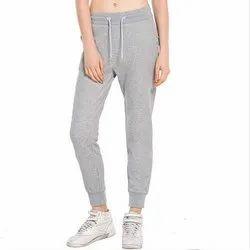 Casual Wear Lycra Cotton Grey Women Jogger Pyjama Lower