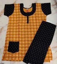Female Multicolor Cotton nightsuit