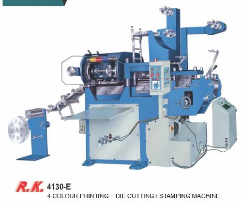 4 Colour Printing With Die Cutting And Stamping Machine