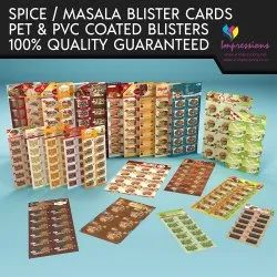 Masala Blister Packaging Cards