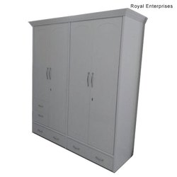 Royal Enterprises 109 Wooden White Wardrobe
