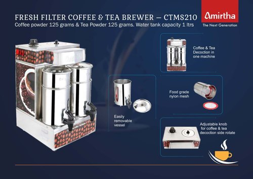 1 Litre Tea & Coffee Decoction Machine