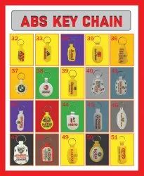 abs plastic key chains