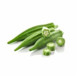 A Grade Green Fresh Lady Finger, Carton, 10 Kg
