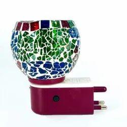 HFDP0049 Beautiful Ceramic Aroma Diffuser With Colorful Night Lamp