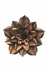 Golden Metal Big Lotus Flower Sculpture For Wall Decoration