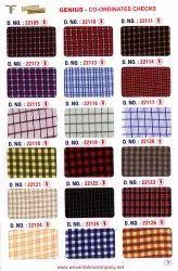 200 GSM Cotton Check School Uniform Shirting Fabric