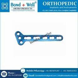 3.5 mm Orthopedic T Oblique Locking Plate