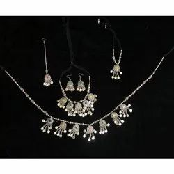 Silver Oxidized Jewellery Set, Occasion: Party