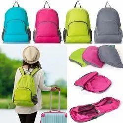 Nylon Multicolor Travel Folding Backpack