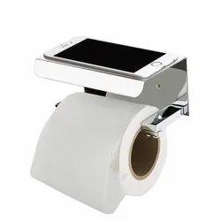 Silver Plantex Stainless Steel Toilet Paper Holder