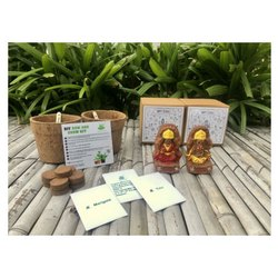 Ganesha And Lakshmiji With Marigold And Tulsi Seeds Grow Kit