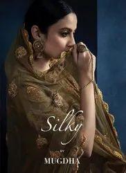 Mugdha Silky 11054-11058 Series Satin Georgette Gown Catalog Catalog