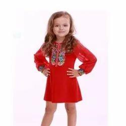 Embroidered Kids Wear Dress