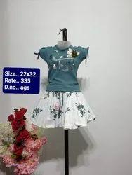 AGS Gray Kids Skirt Top