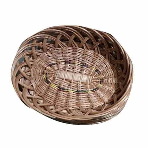 Brown Wooden Oval Basket, For Household