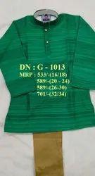 Very Stylish Easy Neck Design Punjabi Suit & Pant Set For Boys