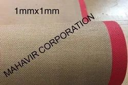 PTFE COATED FIBER GLASS 1 X 1 MM MESH BELT