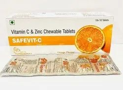 SafeVit-C Vitamin C And Zinc Tablets