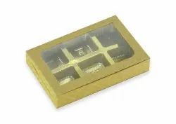 Perfect Pack Rectangle 6 Pcs Kraft Chocolate Box, For Food, Size: 5.5 X 3.75 X 1 Inch